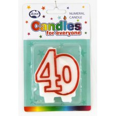 # 40 (Red & White) Candle P1