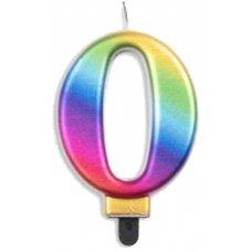 #0 Rainbow Jumbo Candle P1