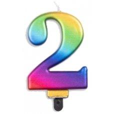 #2 Rainbow Jumbo Candle P1
