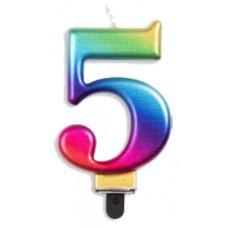 #5 Rainbow Jumbo Candle P1