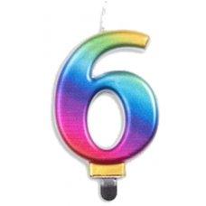 #6 Rainbow Jumbo Candle P1