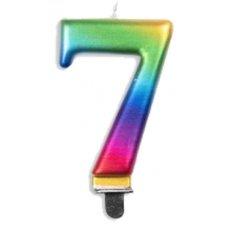 #7 Rainbow Jumbo Candle P1