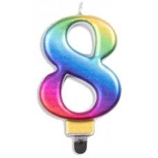 #8 Rainbow Jumbo Candle P1