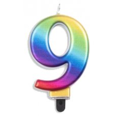 #9 Rainbow Jumbo Candle P1