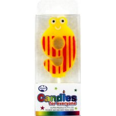 Mini Numeral Candle with Eyes #9 P1