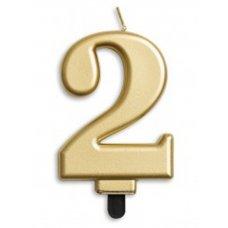 #2 Gold Jumbo Candle P1