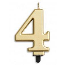 #4 Gold Jumbo Candle P1