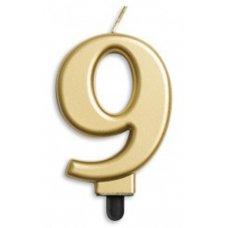 #9 Gold Jumbo Candle P1