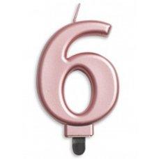 #6 Rose Gold Jumbo Candle P1