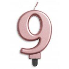 #9 Rose Gold Jumbo Candle P1