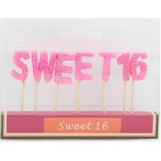 SPECIAL! Sweet 16 Pink Glitter 135mm Box