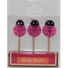 SPECIAL! Lady Beetles Pink 80mm Box