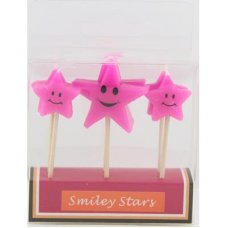 SPECIAL! Smiley Stars Pink 80mm Box