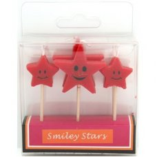 SPECIAL! Smiley Stars Red 80mm Box
