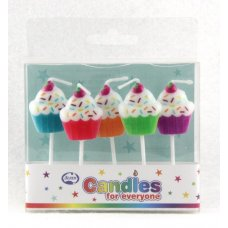 Cup Cakes Candles PVC 5