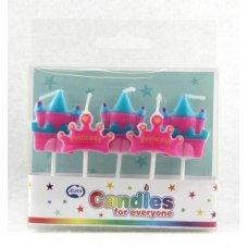 Princess Crown & Castle Candles PVC 5