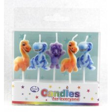 Dinosaurs Candles PVC 5