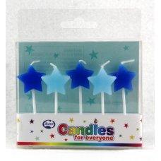Stars Blues Candles PVC 5