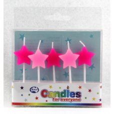Stars Pinks Candles PVC 5