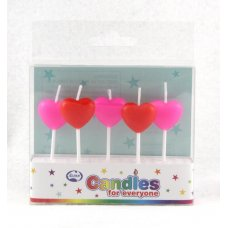 Hearts Red & Pink Candles PVC 5