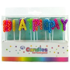 Happy Birthday Bright Polkadots Candles PVC Box