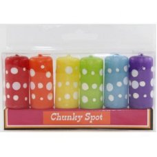 SPECIAL! Funky Chunky Spots Candles P6