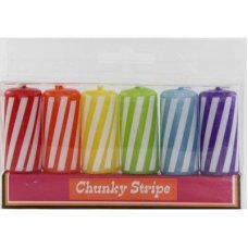 SPECIAL! Funky Chunky Stripe Candles P6