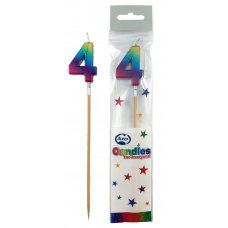 Rainbow Metallic Long Stick Candle #4 P1