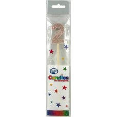 Rose Gold Glitter Long Stick Candle #2 P1