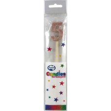 Rose Gold Glitter Long Stick Candle #5 P1
