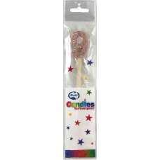 Rose Gold Glitter Long Stick Candle #9 P1