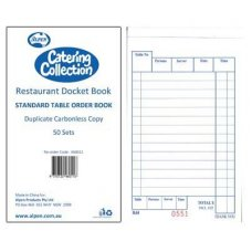 Duplicate Carbonless Restaurant Docket Book Book 50