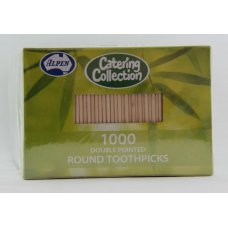 Toothpick Round Double Pointed 1000x5 Bx1000x5