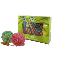 Cocktail Parasols Assorted Colours Box 100