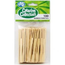 Forks Cocktail Bamboo P100x10 = Box 1000