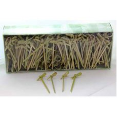 Curly Pick/Skewer 6cm Natural Box 250