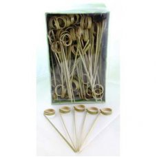 Bamboo Ring Skewer 12cm Natural Pk250