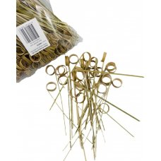 Bamboo Ring Skewer 15cm Natural Pk250