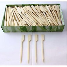 Bamboo Paddle Skewer 9cm Natural Pk250