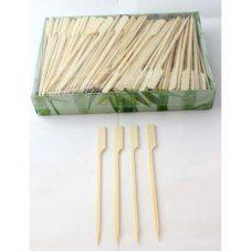 Bamboo Paddle Skewer 12cm Natural Pk250