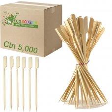 Bamboo Paddle Skewer 12cm Natural (20 x Pk250) Ctn5000
