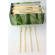 Bamboo Paddle Skewer 15cm Natural Pk250