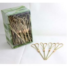Bamboo Heart Pick Skewers 10cm Natural Pk100