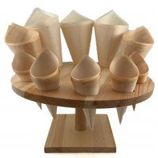 Wooden Cone Rack 20cm Round 10 Holes Each