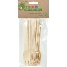 Wooden Forks 155mm Pack 10 x 10