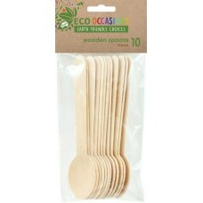 Wooden Spoons 155mm Pack 10 x 10