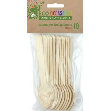 Wooden Teaspoons 110mm Pack 10 x 10