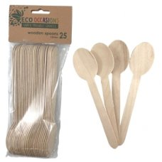 Wooden Spoons 155mm Pack 25