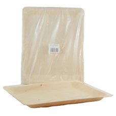 Wooden Plates 26.5 x 21.5 x 2cm Pack 25