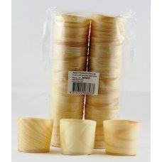 Wooden Cups 4.5x4.5cm P50